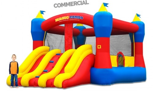 inflable super doble tobogan