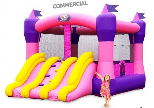 inflable super doble rosa